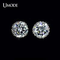 UMODE multi-griffes 8mm 2 ct de qualité supérieure simulées Dormeuses à diamant UE0013