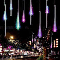 20 سنتيمتر 30 سنتيمتر 50 سنتيمتر النيزك دش سلسلة 8 أنابيب للماء أضواء led عيد الميلاد ac 100-240 فولت ل حديقة الزفاف الإضاءة