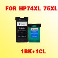Pour hp74 74XL cartouche d'encre compatible pour hp74 75xl Deskjet D4260 photosmart C4280 / C4385 / C5280 / D5360