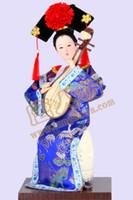 Resina mestieri di resina decorazioni di decorazione del nuovo anno creativo caratteristiche della dinastia Qing rosso cheongsam Lady Pink gru