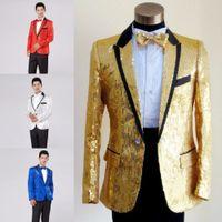 paillette male master Sequins Robes Costumes de Scène Hommes terno Costume MC Host Vêtements Singer Costumes Blazer Voir la veste