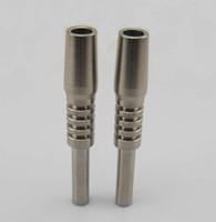 1 Pcs Titanium prego 14 milímetros unhas invertido Grau 2 Titanium Dica Ti prego para o vidro Nectar Collector