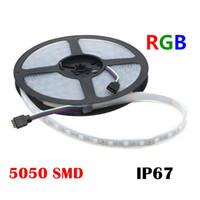 방수 IP67 실리콘 튜브 5M은 SMD가 / m 유연한 DIY 파티 야외 빛 60LED 5050 DC 12V RGB LED 스트립을 300led