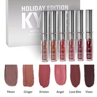 New Kylie Holiday Edition 6pcs / set Mini Matte Liquid Lipstick Set LTD Коллекция minis Kylie Cosmetics HOLIDAY EDITION FOR Christmas