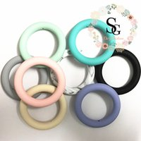 (2017 new)Lot of 5 - Silicone Round ring 65mm Teething Ring F...