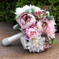 2020 Gorgeous Rose Real Touch Fleurs Pivoine Bouquets pour Peonies De Mariage Bouquets Bouquets Bouquets Bouquets Mariage Accueil Décoration