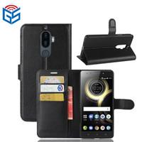 2017 Accessoires Pour Smartphones Premium PU Flip Portefeuille Étui En Cuir Pour Lenovo K8 Note avec Poche Pour Carte