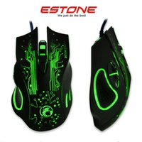 New Game Wire Mouse ESTONE X9 5000DPI Colorful Gaming Mouse ...