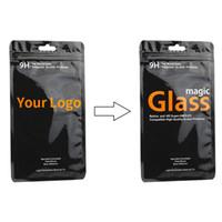 OEM PVC Tasche gehärtetes Glas Film Retail Packaging Bag für iPhone X Samsung mit kostenlosem Versand