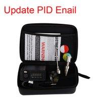 kit di enail per Dry Digital a base di erbe PID elettronico Dab titanium Chiodo senza cupola a forma di dnail Vaporizzatore ENail WAX per il fumo di cera Ciotola con custodia con cerniera