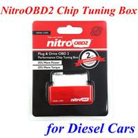Ücretsiz kargo!! Dizel Otomobil% 35 daha fazla güç% 25 Daha tork için Tak ve Sürücü NitroOBD2 Performans Chip Tuning Kutusu
