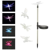 3pcs Lot Dragonfly Butterfly Bird LED Solar Lamps Lawn Lights Outdoor  Lighting Garden Patio Decoraton Path Landscape Light