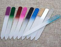 "File per unghie da 5,5 ""in vetro Durevole file di cristallo per unghie buffer per unghie per unghie fino a 10 colori NF014 Drop Shipping"