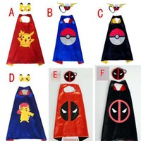 Poke go double layer cape children Cosplay capes Halloween P...