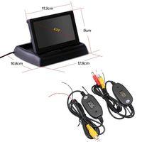 "2.4G الارسال اللاسلكي استقبال 4.3 ""TFT LCD سيارة عكس الرؤية الخلفية مرآة مراقب وقوف المساعدة ، وحرية الملاحة"