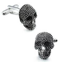 Charming jóias homens manguito masculinos personalizados crânio latão metal abotoaduras botão acessórios de casamento jóias para noivos