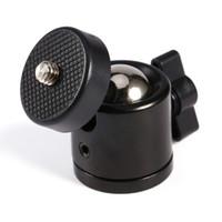 """Freeshipping 4pcs / lot Color negro 360 grados Mini Trípode Ball Ballhead 1/4 """"Soporte de montaje del tornillo Cámara réflex digital DSLR cámara DSLR Accesorios"""