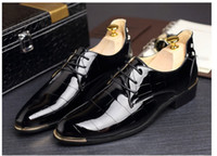 Fashion Handmade Medusa Top and Metal Toe Men Velvet Rivets ...