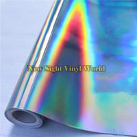 Yanardöner Gümüş Lazer Krom Vinil Film Holografik Kaleydoskop Araba Sarma Filmi Kabarcık Ücretsiz Araç Sarar Için