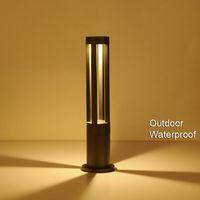 Jardín Yard Columna Pathspot LED Lámparas de césped 4 Four Ray A impermeable Pole Rod Paisaje Luz al aire libre