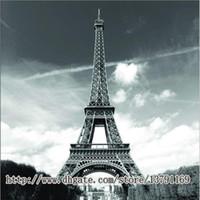 """유명한 도시 랜드 마크 패턴 부드러운 패브릭 방수 샤워 커튼 72 """"에 의해 72""""에펠 탑 파리"""