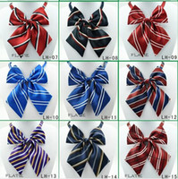 Dog Ties 100pcs lot Wholesale Polyester Silk Pet Dog Bow tie...