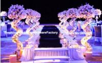 Zihinsel standı sadece) yeni varış Lüks Düğün Dekorasyon düğün sütunlar sütun Yol Kurşun Çiçek aranjmanı için Standı