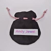 Sacs de velours noir ruban rose Fit Perles de pandora européen Charms et bracelets Colliers Bijoux Pendentif Pendentif Mode