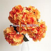 45 cm Flores de Hortênsia Artificial Popular Simulação Mallorca tamanho Grande Hortênsia Cinco Cabeças Por Bush para o Casamento Decorativo Flor 4 Cor