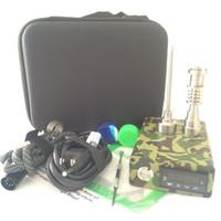 Günstige e dab nagel Kit elektrische tupfen nagel PID Temperatursteuerbox 110 V / 220 V 100 Watt Spule 10mm / 16mm / 20mm Titan Nagel Carb Cap