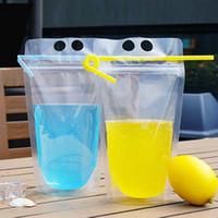 450 ml transparent selbstversiegelten kunststoff getränkebeutel diy trinken milch kaffee container trinkbeutel fruchtsaft lebensmittel aufbewahrungstasche