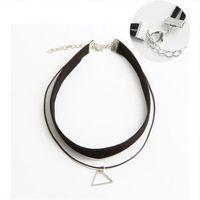 الفضة مثلث الترقوة قلادة جديد الأزياء والمجوهرات للنساء الملابس الملحقات الأزياء شنقا سلسلة الحرفية قلادة شحن مجاني