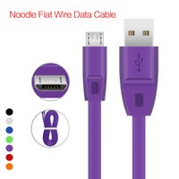 1M Micro Flat USB Data Cable noodle cables for ip 5 6 7 Sams...