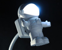 500pcs USB LED Light Lamp Flessibile Neck Spaceman Astronauta Led Light Reading Nightlight Nootbook Computer portatile 0001