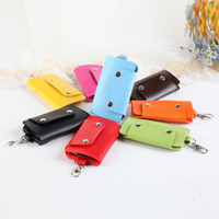 Wholesale- Hot Sale PU Leather Housekeeper Holders Car Keych...