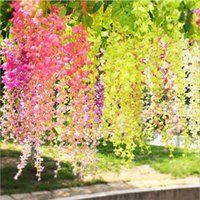 Artificial Ivy Wisteria Silk Flower Vine Garland for Wedding...