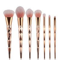 Pincel de maquillaje 7 unids / set Professional Blush Powder Foundation Eyebrow Eyeshadow Rose Gold Make Up Brush Blending Cosmetic Tools