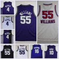 212cd1ce89b Basketball Men Sleeveless Throwback Basketball Jersey 55 Jason Williams  Jerseys 4 Chirs Webber Shirts 16 Peja