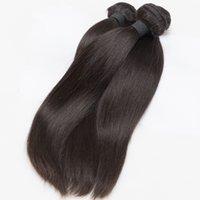 8A Brasilianisches Reines Haar Gerade Menschenhaar-Webart 3 Bündel Gerade Jungfrau-Haar-Produkte Brasilianische gerade Bündel