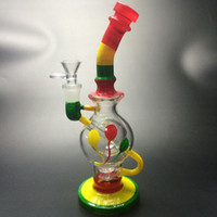 2017 free shipping glass rig Dab ball recycler Perc egg wate...