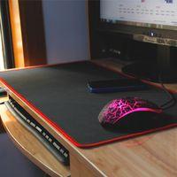 الجدول حصيرة كبيرة لوحة الماوس سماكة مكتب لوحة المفاتيح gadders القماش الجدول حصيرة