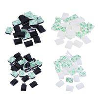 Grampos de cabo Braçadeira 3 M Auto-Adesivo Suporte do Fio de Corda Tie Clip Drop Organizador de Gerenciamento de Cabo para o Carro Escritório Casa em preto branco