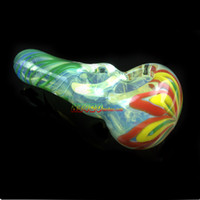 Стекло ручной трубы Производитель оптом RT-135 маленьких стеклянная курительная трубка ручной трубы, ложка труба бесплатная доставка