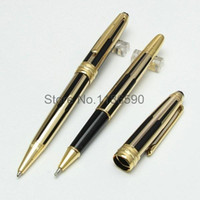 High quality new black and gold stripes roller ball pen   ba...