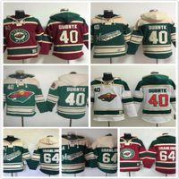 Minnesota Wild hoodies 40 Devan Dubnyk 64 Mikael Granlund Hóquei No Gelo Hoody Moletons verde vermelho branco