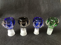 1 Pz Spessa artiglio drago maschio e famale vetro comune ciotola di vetro per bong di vetro tubi di acqua 14,4 millimetri 18,8 millimetri