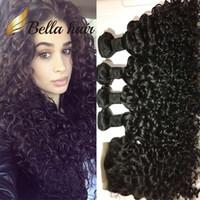 Bella Hair®8a 5pcs / mycket Peruvian Hair With Top Closure Virgin 4 Bundles Water Wave Weave Bundle