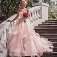 리본 벨트 벨시 핑크 가든 웨딩 드레스 벨트 스위트 베드 스커트 공주 보헤미안 신부 가운 다채로운 Vestido de Noiva