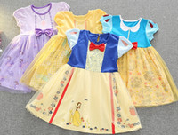 Cartoon Princess Dresses Belle Snow White Beauty and the Bea...