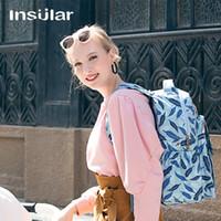 الجزر الأزياء Multifuntional حفاضات الطفل حقيبة الظهر حقيبة الأم المرأة حقيبة الظهر